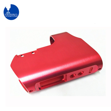 CNC Machined Red Aluminum Housing