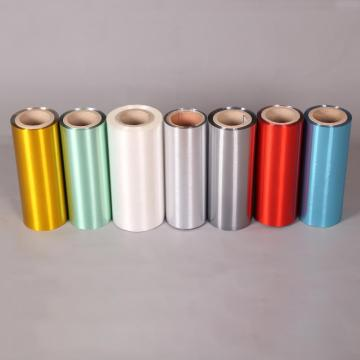 decorative colorful metallized hair line polyester film