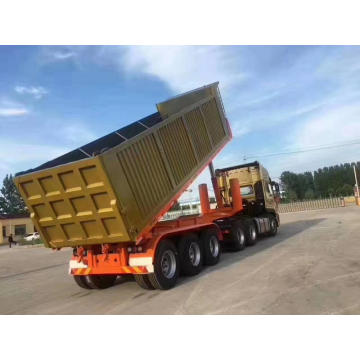 80 tons heavy load tipper trailer semi trailer