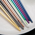 Colored Wedding Stainless Titanium Reusable Chopsticks