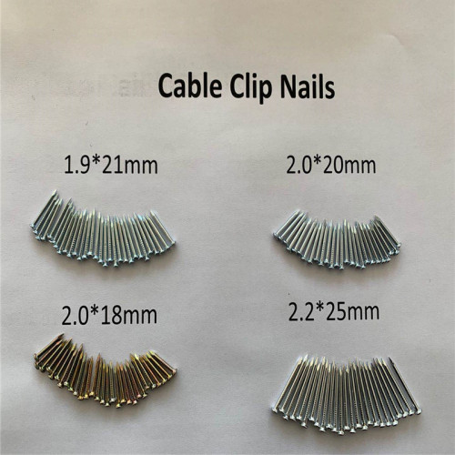 Galvanized cable clip concrete nail