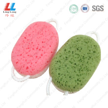 Attractive foaming durable bath sponge