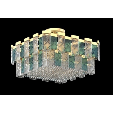 Modern Living room Rectangle Delicate Crystal Ceiling Light