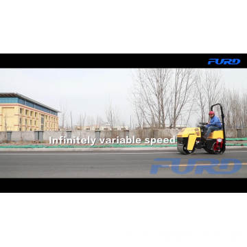 Vibratory Double Steel Drums Road Roller for Soil Compaction