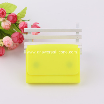 Custom logo silicone rubber business card holder