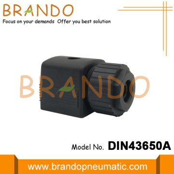 Black DIN 43650A Connector For Burkert Solenoid Valve