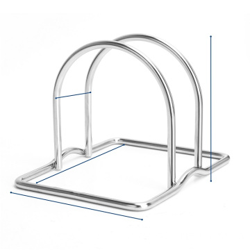 Convenient Draining Stainless Steel Drain Rack Kitchen Cutting Board Rack