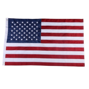 Custom printed embroidered outdoor polyester american USA flag