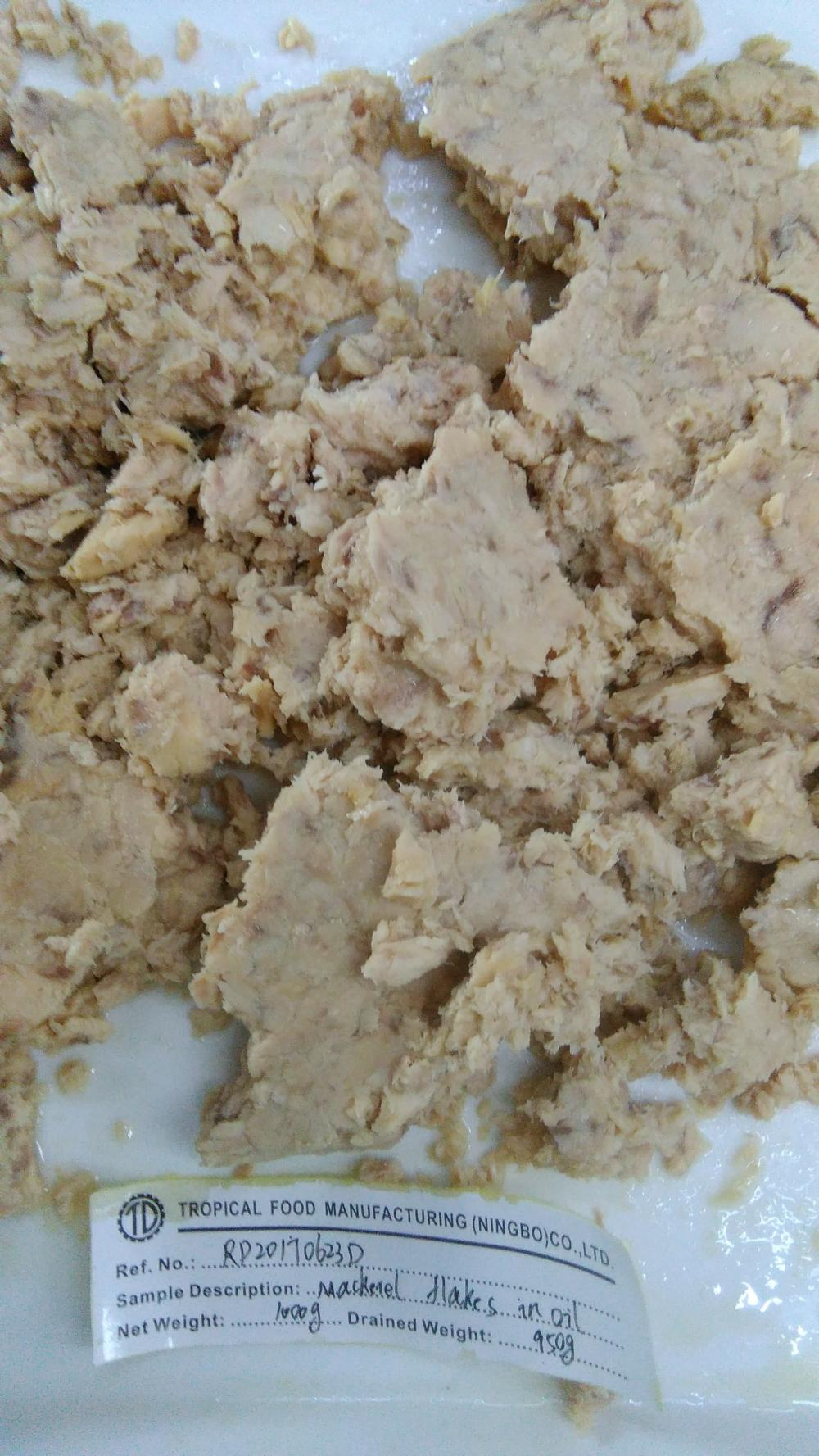 Pouch Mackerel Flake Without Part Dark Meat In Oil 1kg