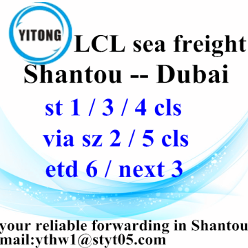 Shantou Containers Shpping LCL Shipping To Dubai