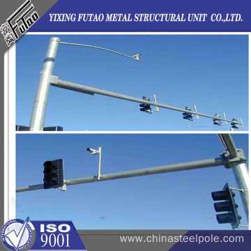 6 meter x 4.5meter arm CITY TRAFFIC POLE