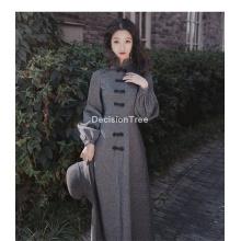 2021 qipao traditional cheongsam full sleeve party loose mesh chan dress chinese traditional hanfu style dress lady qipao dress