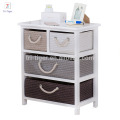 Furniture paulownia Wooden Drawers Side Table