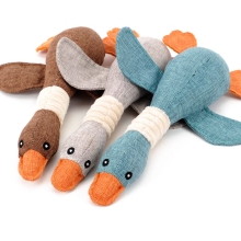 Animal Shaped Duck Squeak Plush Pet Dog Toys