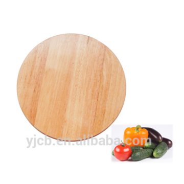 round shape cutting board wholesale Durable rubber wood blank cutting board blank