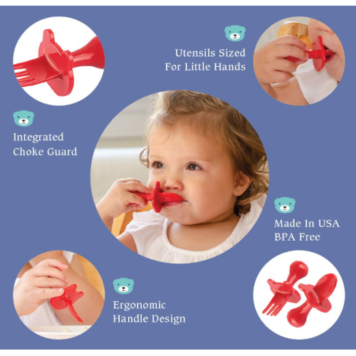 Food Grade Silicone First Self Feeding Infant Utensils
