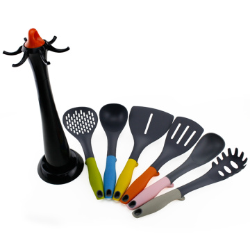 Nylon kitchen tools with holder set