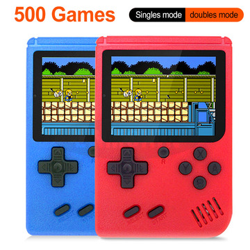 Rechargeable 500 in 1 Video Handheld Game Console Retro Game Mini Handheld Player for Kids Built-in 500 Games