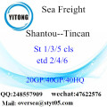 Shantou Port Sea Freight Shipping To Tincan