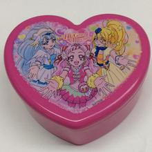 Plastic heart shaped box with mirror