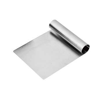 stainless steel pastry scraper and cutter