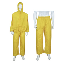 2pcs PVC waterproof rainsuit with pants