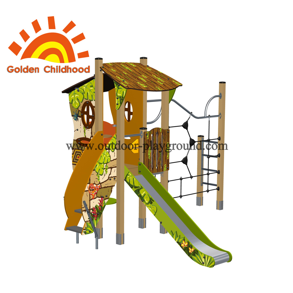 Climber Single Playhouse Backyard Outdoor Playground Equipment For Children