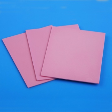Well polished pink alumina ceramic substrate