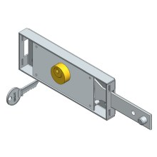 Right side roller shutter lock straight bolt