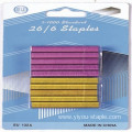 Super Sharp 26/6 Colorful Office Blister Packing Staples
