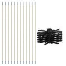 Professional 1pcs Brush 12pcs Rod Cleaner Chimney Boiler Nylon Brush Dryer Duct Cleaning Tool Kit for Household Industrial Use