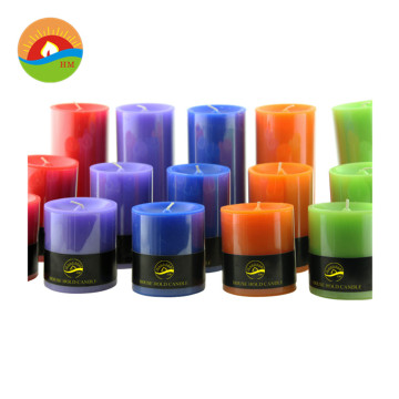 Factory Custom wholesale aromatherapy soy wax pillar candle