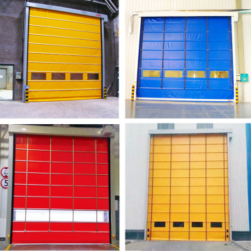 ISO 9001 high speed stacking folding up door