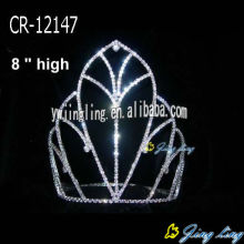Wholesale cheap simple rhinestone pageant crowns