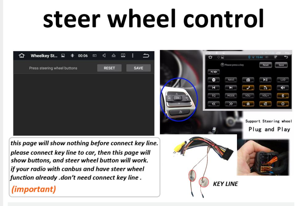 car navigation support steer wheel control