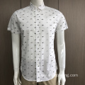 100% Cotton men's print short sleeve shirt