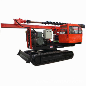 Solar photovoltaic power screw pile driver