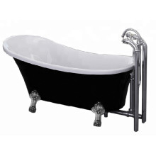 Black Freestanding Bathtub 1600mm