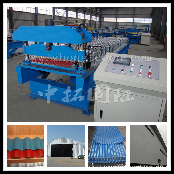 Steel Metal Corrugated Panel Roll Forming Machine
