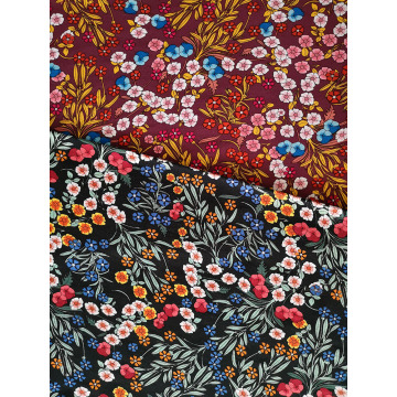 Flower Design Rayon Twill 3024S Printing Woven Fabric