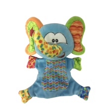 Hand Puppet Elephant Light Blue