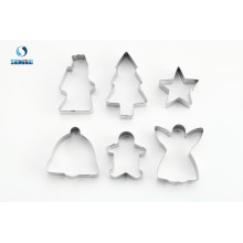 6 pieces Xmas cookie cutter set