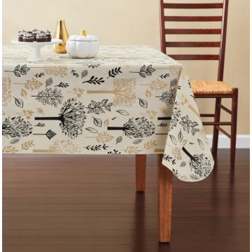 Tablecloth PE with Needle-punched Cotton Trees Rectangle