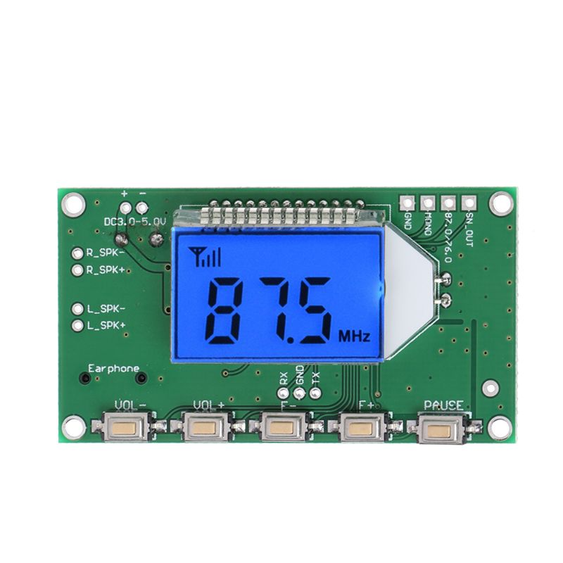 PLL LCD Digital FM Radio Receiver Module 87-108MHZ Wireless Microphone Stereo Drop Shipping Support