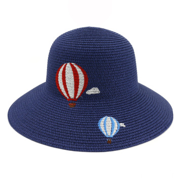 Cartoon design custom summer beanie straw hat