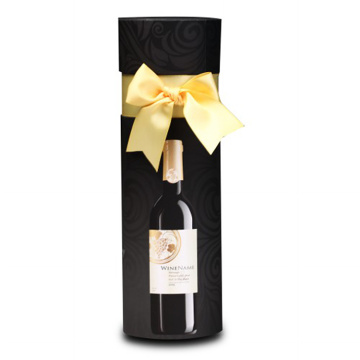 Round Package Gift Wine Paper Box with Ribbon