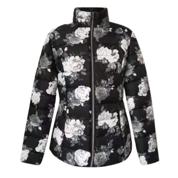 Quilted Jacket flower printed