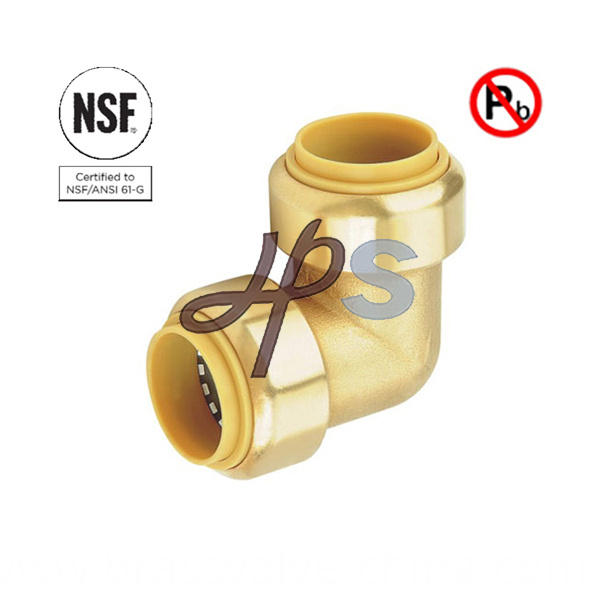 Free Lead Brass Push Fit Elbow