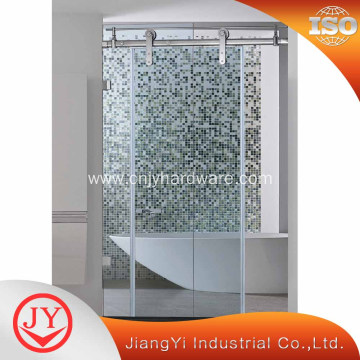 Customized Double Panel Bathroom Glass Sliding Door