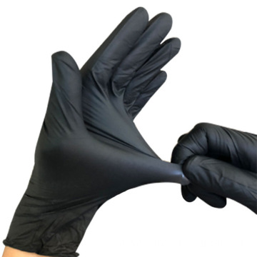 medical Nitrile black examination glove